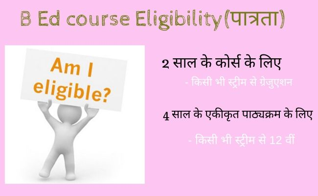 B.Ed course Eligibility पात्रता