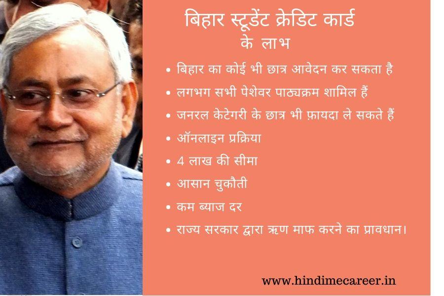 Bihar student credit card benefits in hindi