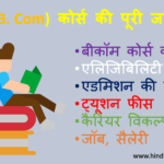 B.com course details in Hindi